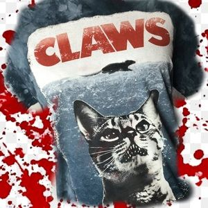 CLAWS! Kitty Kat Graphic Tee, Really Graphic!😸